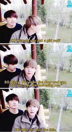 Oh I love Suga he's such a savage