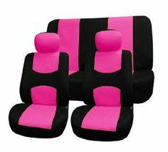 Mjnbjkbjbj Pink Rhinestone Princess Crown Car Seat Cover