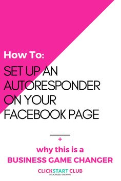 How to Set Up an Autoresponder On Your Facebook Page - https://clickstartclub.com/how-to-set-up-an-autoresponder-on-your-facebook-page/?utm_medium=social&utm_source=pinterest&utm_campaign=tailwind_tribes&utm_content=tribes
