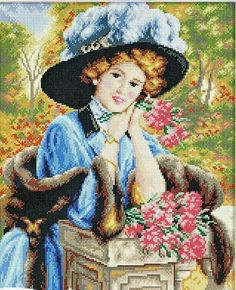 Dama en el jardín