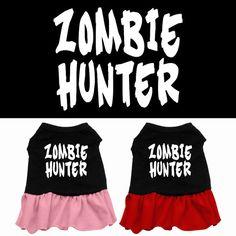 Halloween Dog Dress Zombie Hunter by DirtRoadDog on Etsy