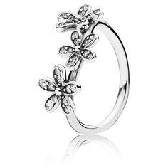 Pandora Ring Glanzvolle Gänseblümchen Wiese 190933CZ Sterling Silber