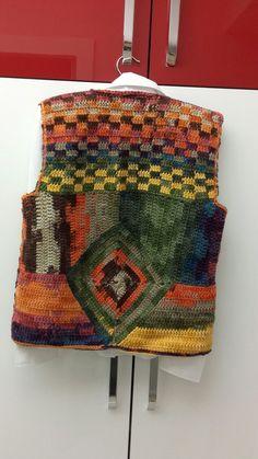 Crochet Hooded Baby Cardigan Making - Sevdiğim Örgüler - Sweaters Crochet Waistcoat, Crochet Baby Cardigan, Crochet Coat, Crochet Shirt, Crochet Jacket, Crochet Clothes, Crochet Shrugs, Crochet Sweaters, Hippie Crochet