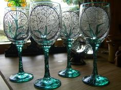 Witchcrafts Hand-painted Glassware - love these