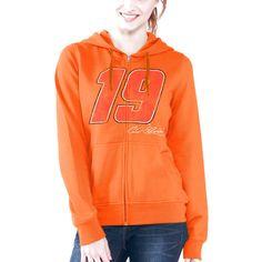 Carl Edwards G-III 4Her by Carl Banks Women's Wildcat Full Zip Hoodie - Orange - $29.99