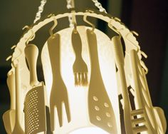 Kitchen Utensil Chandelier. By ZoesEmporium