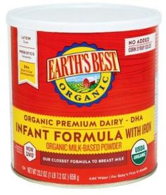 Earth's Best Organic Dairy Infant Powder Formula with Iron, DHA and ARA, oz. (Pack of Organic Formula, Non Organic, Organic Baby, Best Baby Formula, Infant Formula, Baby Food Recipes, Gourmet Recipes, Earth's Best, Baby Feeding