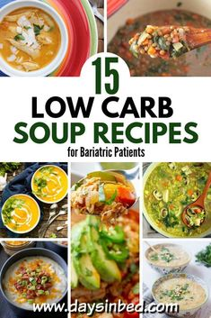 15 Low Carb Soup Recipes for Bariatric Patient pin Low Carb Vegetable Soup, Lentil Vegetable Soup, Low Carb Chicken Soup, Low Carb Vegetables, Vegetable Soup Recipes, Chicken Soup Recipes, Bariatric Eating, Bariatric Recipes, Bariatric Surgery