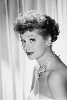 """Lucille Ball is best known for her very popular situation comedy show, """"I love Lucy"""" I Love Lucy, My Love, Old Hollywood Glamour, Classic Hollywood, Hollywood Couples, Vintage Hollywood, Hollywood Stars, Hollywood Divas, Hollywood Icons"""