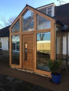 Fully glazed oak frame porch  Www.jefferson-joinery.co.uk