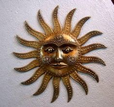 sun god (Sculpture),  10x10x10 in by Sushil Sakhuja sun god