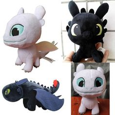How to Train Your Dragon 3 Toothless Light Fury Plush Toys Soft Stuffed Night Fury Toothless Kids Toys Plush Figurine Kids Toys