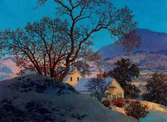 Art History News: Maxfield Parrish at Auction EARLY MORNING, FIRST SNOW