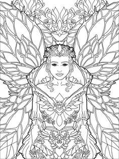art deco coloring pages | art-nouveau-coloring-pages-flower-girl ... - Art Nouveau Unicorn Coloring Pages