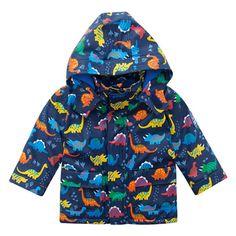 Look at this Navy Dinosaur Fisherman's Jacket - Infant, Toddler & Boys Toddler Boy Fashion, Little Boy Fashion, Toddler Boys, Kids Fashion, Infant Toddler, Summer Jacket, Rain Wear, Little Boys, Boy Outfits