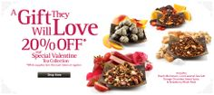 20% off our Valentine Tea Collection both online and in-store!