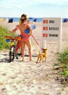 LOL....like when we cant brink alcohol or radios the beach!