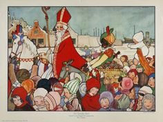 "Sinterklaas & Associates (A drawing from a picture book by Rie Cramer) from ""Happy Belated Sinterklaas! December 5"" on ADD . . . and-so-much-more"