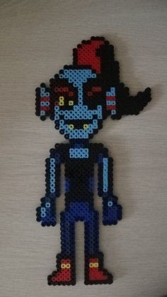 Undyne - Undertale perler beads  by SuperSensei