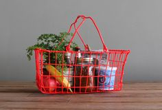 Vintage Upcycled Wire Basket