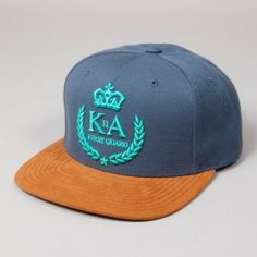 KING APPAREL FIRST GUARD SNAPBACK BLUE. A snapback is essential in the sun.