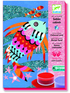 Djeco ~ Sand & Glitter ~ Rainbow Fish Farbiger Sand, Sand Art, The Rainbow Fish, Rainbow Colors, Puzzles 3d, Colored Sand, Craft Kits For Kids, Glitter Art, Educational Crafts