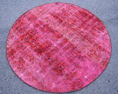 Turkish rug Oushak rug Vintage rug Turkey rug by turkishrugstar Small Area Rugs, Types Of Rugs, Rustic Rugs, Pink Rug, Turkish Kilim Rugs, Wool Area Rugs, Rugs In Living Room, Handmade Rugs, Vintage Rugs