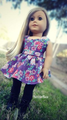 Purple Garden Dress - American Girl Doll Clothes