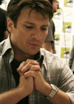 Nathan Fillion: deep in thought?