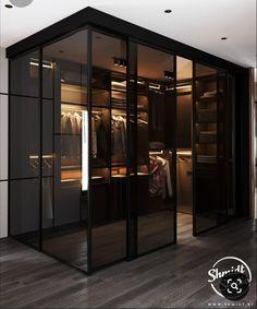 Wardrobe Design Bedroom, Modern Bedroom Design, Home Room Design, Dream Home Design, Modern House Design, Modern Luxury Bedroom, Dream House Interior, Luxury Homes Dream Houses, Dressing Room Design
