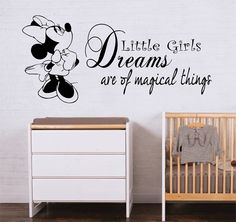 Walt Disney Minnie Mouse Girls Children Bedroom Quote Wall Art Decal Sticker | eBay