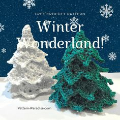 Crochet Christmas Tree Free Patterns for Holiday Decoration Crochet Christmas Trees, Christmas Tree Pattern, Christmas Crochet Patterns, Woodland Christmas, Holiday Crochet, Christmas Tree Farm, Holiday Tree, Xmas Tree, Christmas Tree Decorations