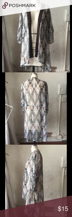 3230a7f929 Sheer Chevron pattern Chiffon Cardigan Great cover up when you need just a  little extra styling
