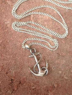 Anchor Necklace/Sterling Silver Anchor by AVBohoJewellery on Etsy