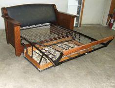 Antique Kroehler Duofold Sofa Bed Circa 1915 254217773
