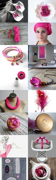 Hot Pink by Marukasa on Etsy--Pinned with TreasuryPin.com
