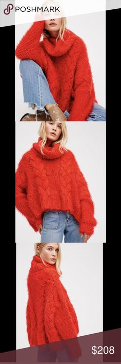 Free People TurtleneckOversize Pullover Sweater XS | Plum wine ...