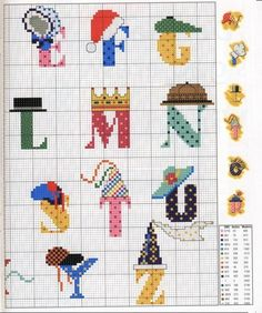 cross stitch charts, cross stitch monograms, belosgraficosdepontocruz.blogspot.com, cross stitch alphabet,