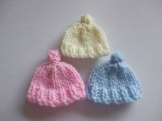 Hand knitted baby hat card embellishments £3.00