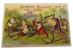 Frog Illustration, Old Postcards, Amphibians, Vintage Cards, Antiques, Frogs, Cute, Animals, Painting