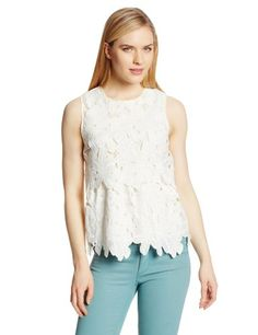 Dolce Vita Women's Jimena Floral Lace Popover Sleeveless Top, White, Small Dolce Vita, To SEE or BUY just CLICK on AMAZON right HERE  http://www.amazon.com/dp/B00HSHUVBG/ref=cm_sw_r_pi_dp_cUojtb0CKKPCKT44