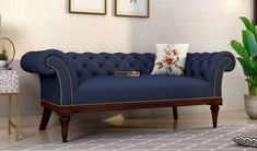 Make your bedroom most loving place. Add cozy #loveseat in #bedroom #furniture collection. Buy Swanson Indigo Ink 2 Seater #loveseat #Sofa online from #WoodenStreet.  #loveseats #bedroomloveseat #loveseatsofa