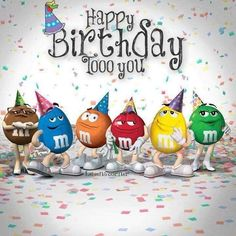 M&M birthday card