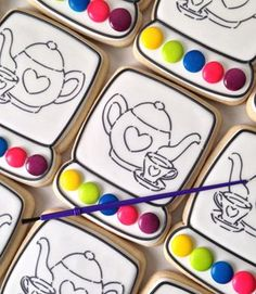 Tea Party Paint Your Own cookies