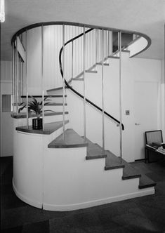 Curved Stairway - Walter Gropius