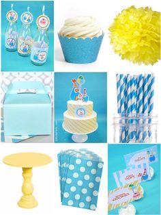 Paint My Party :  Idées de fêtes d'anniversaire enfants thème pingouin bleue et jaune #pingouin #anniversaireenfants #anniversaires #fete #party #sweettable #bleujaune #idéesanniversaire