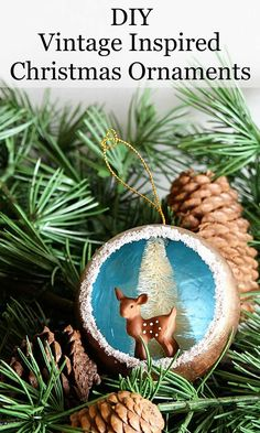 Remake nostalgic 50 s Christmas decorations with this quick  amp  easy Christmas  ornament tutorial for retro 3ccb820f4188