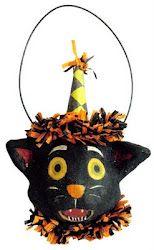 Halloween cat ornament