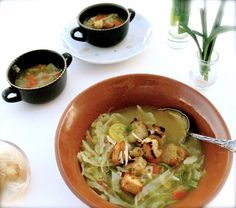 Ribollita, Tuscan Cabbage Soup by Angela Roberts Recipes For Soups And Stews, Soup Recipes, Healthy Recipes, Italian Soup, Italian Recipes, Lunches And Dinners, Meals, Winter Soups, Cabbage Soup