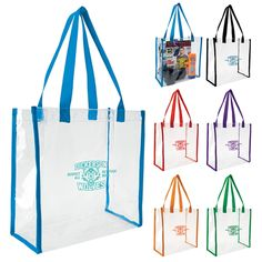 Promotional Clear Game Tote Bags | Customized Clear Game Tote Bags | Promotional Tote Bags #football #sports #logo #marketing #promotionalproducts